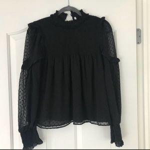 Zara chiffon Babydoll blouse